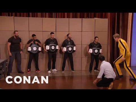 Steven Ho Teaches Conan Bruce Lee's Power Side Kick  - CONAN on TBS