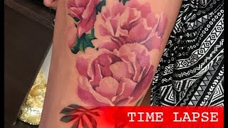 Lilies - Tattoo Time Lapse
