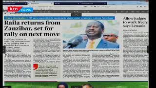 Raila Odinga returns from Zanzibar, set for rally on next move
