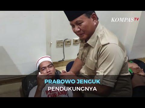 Prabowo Jenguk Pendukungnya yang Terluka di Aksi 22 Mei