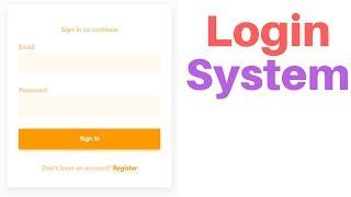 Complete user registration system using PHP and MySQL database