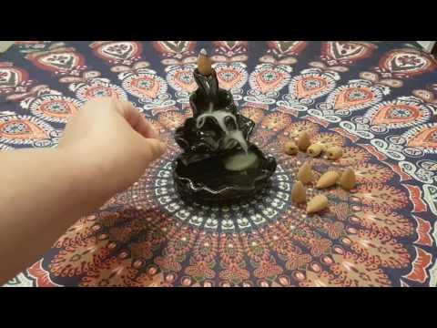 Mohoo Handgefertigte Keramik Räucherstäbchenhalter Feng Shui buddhistischen TIBET Freies Kegel