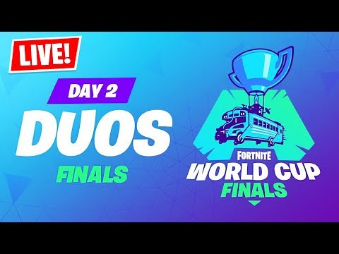 , title : 'Fortnite WORLD CUP LIVE Duos Tournament Finals!! ($30,000,000)'