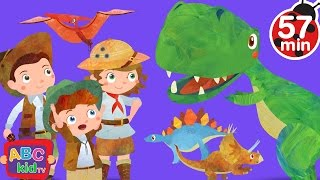 Dinosaurs Song (2D) | +More Nursery Rhymes & Kids Songs - Cocomelon (ABCkidTV)