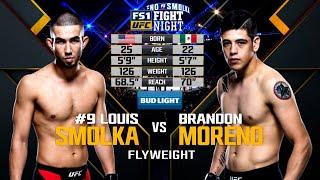 UFC Debut: Brandon Moreno vs Louis Smolka | Free Fight