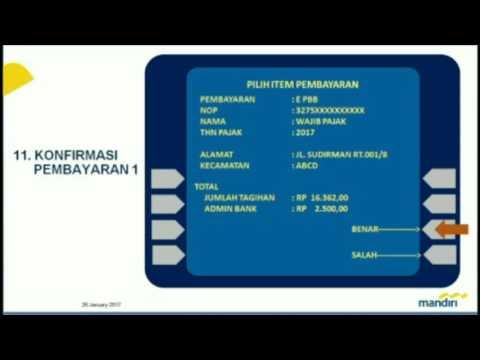 Tata Cara pembayaran online PBB/e-PBB Kota Bekasi Melalui ATM dan Internet Banking Bank Mandiri