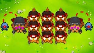 INFINITE Plasma Monkey Fan Club! INSANE Multiplayer Bloons TD 6 Strategy!