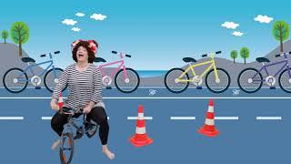 Cykelsang (Jeg Er Så Glad For Min Cykel) | Børnesang med fagter | Danish song | Popsi og Krelle