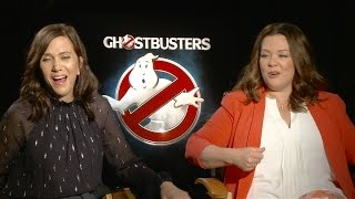 Melissa McCarthy and Kristen Wiig discussing FAME´S biggest misconceptions #Ghostbusters