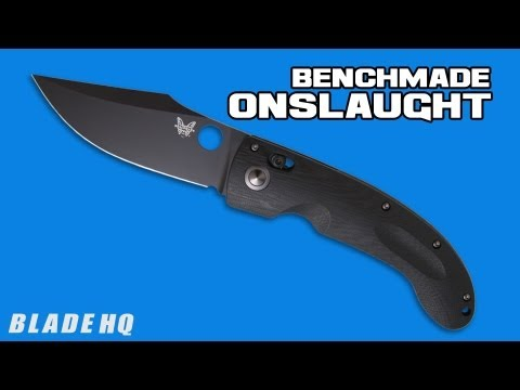"Benchmade Mini Onslaught AXIS Lock (3.45"" Black Serr) 746SBK"