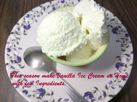 Video Vanilla Ice Cream Recipe in HIndi | How to make Vanilla Ice Cream at Home | Recipeana