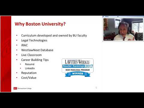 Become a Paralegal at Boston University: February 2018 Webinar ...