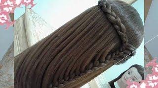 peinados recogidos faciles para cabello largo bonitos y rapidos con trenzas para niña para fiestas93