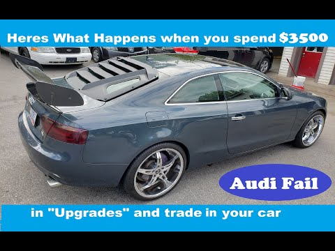 """Audi A5 """"upgraded"""" then sold at Auction"""