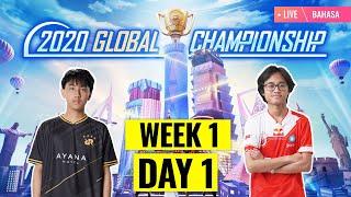 [Bahasa] PMGC 2020 League W1D1 | Qualcomm | PUBG MOBILE Global Championship | Week 1 Day 1