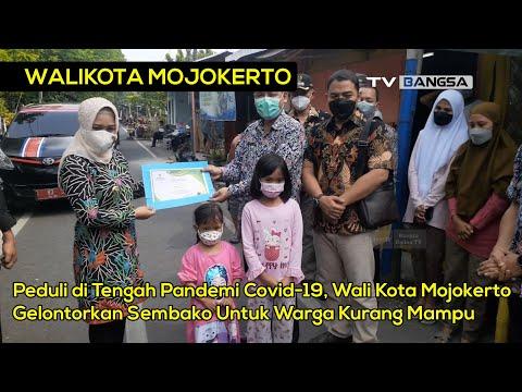 Peduli di Tengah Pandemi Covid-19, Wali Kota Mojokerto Gelontorkan Sembako Untuk Warga Kurang Mampu