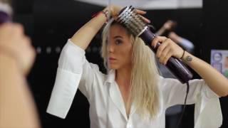 Hairdresser skills at Gym - wih Babyliss Beliss rotating brush by Carmen Grebenisan