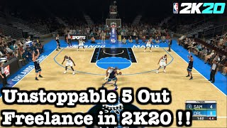 NBA 2K20 Easy Ways to Score Freelance Tutorial Easiest Beginner Offense in 2K20 How to 5 Out