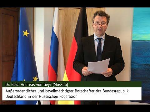 Deutscher Botschafter Dr. Géza Andreas von Geyr – Versöhnung bleibt für uns Auftrag