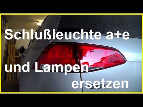 VW Golf Birne Glühlampe hinten wechseln Rückleuchte ausbauen Schlussleuchte Rücklicht wechseln