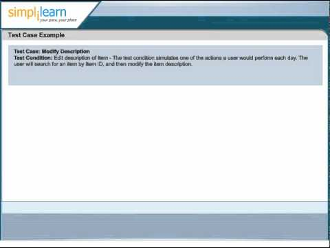 Simplilearn: Software Test Case | Software Testing Certification ...