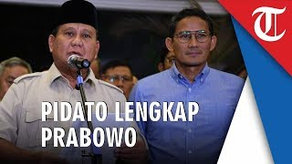Pidato Lengkap Prabowo Seusai MK Tolak Gugatannya