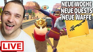 🔴 NEUE WOCHE, NEUE QUESTS, NEUE WAFFE + GIVEAWAY (Fortnite Battle Royale Livestream)