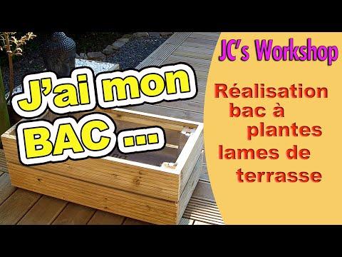 Comment faire un bac à plantes en lames de terrasse. #108