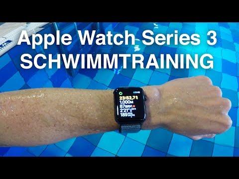 Schwimmtraining mit der Apple Watch Series 3 GPS+Cellular. Schwimmen Strava & Analyse des Trainings