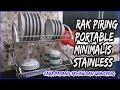 Rak Piring Stainless 2 Layer Minimalis Cara Pasang Review dan Unboxing