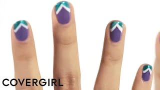 Nail Art: How To Do Chevron Nails | COVERGIRL