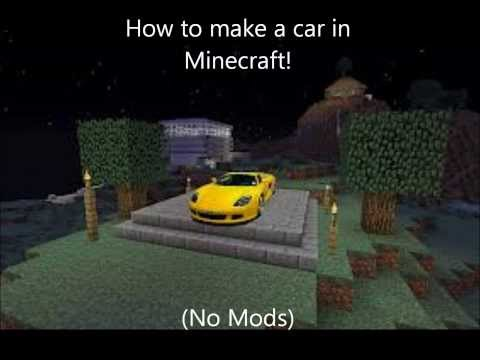 how to make a car in minecraft. Simple Minecraft How To Make A Car In Minecraft Easy No Mods With