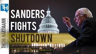 Bernie Sanders Challenges the Government Shutdown