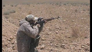 Сирийский снайпер ликвидирует террориста с ПТРК TOW