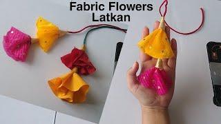 How To Make Fabric Flowers Latkan|fabric Flower Latkan|fabric Flower Latkan At Home|#flowerslatkan
