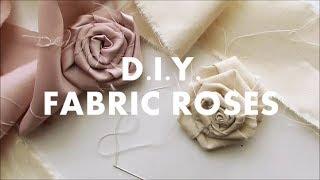 DIY Fabric Roses | NANCY MAC