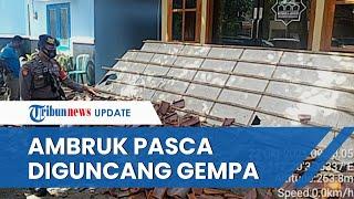 Penampakan Kanopi Musala dan Plafon Kantor Desa Ambruk di Blitar Pasca-Gempa 5,1 Mengguncang Malang