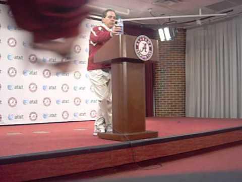 Nick Saban Press Conference Video: Nov. 7, 2012