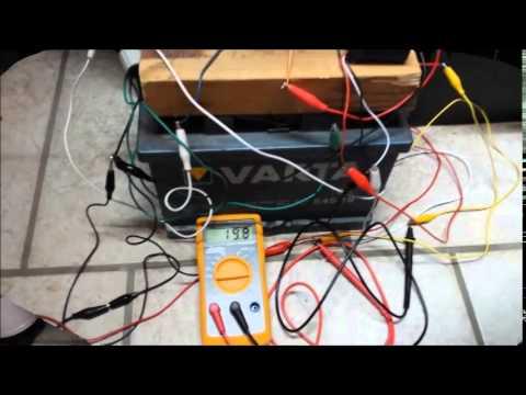 Der Garagenfund - 2 uralte 45 Ah Autobatterien werden regeneriert - 1. Tag