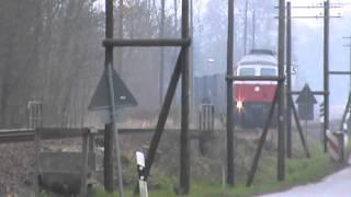 preview picture of video 'Nohab mit Rheingold und ein Güterzug in Ostsachsen'