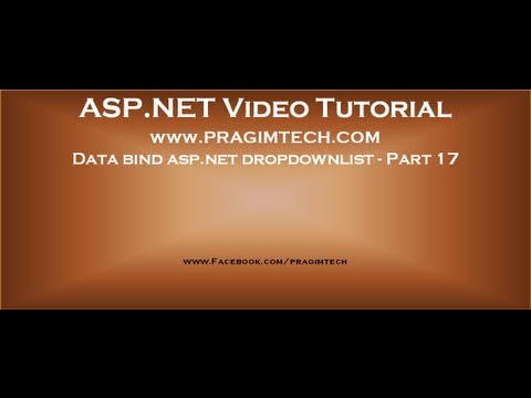 Data Bind Asp.net Dropdownlist With Data From The Database   Part 17 Mp3