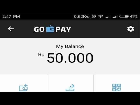 Video Voucher go pay gratis 50000 rupiah dari go jek