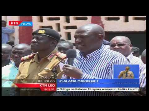 William Ruto azuru Marakwet akiwaonya wanaotumia bunduki