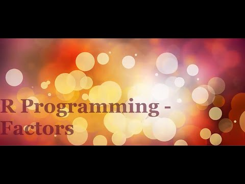 R Programming Tutorial 5 – Factors
