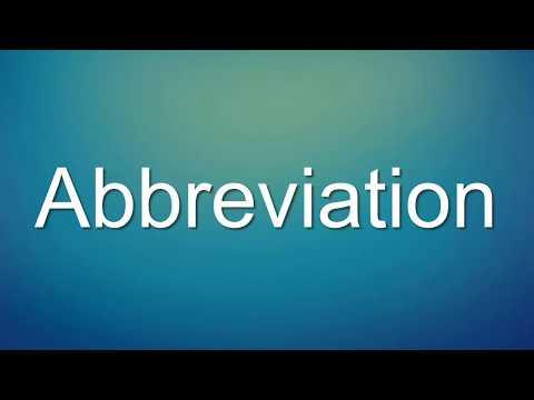 Abbreviation Meaning | E-Dictionary