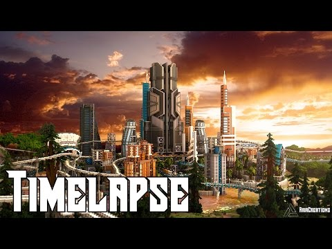 Minecraft Timelapse   Luccid Utopia - City of the Future