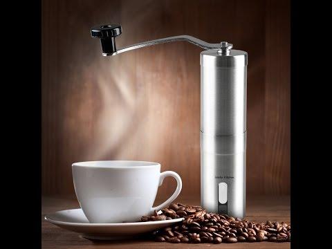 Macina Caffè manuale, iNeibo Kitchen macinino in acciaio inossidabile con meccanismo in ceramica