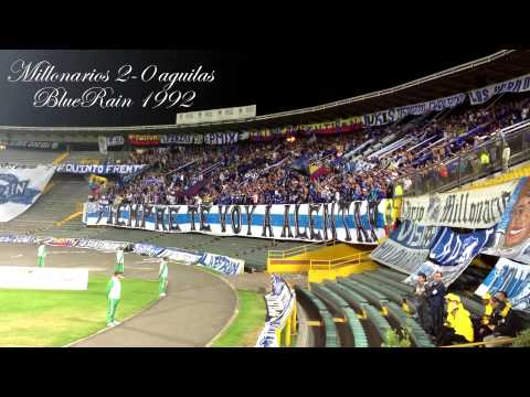 """""""BlueRain // Millonarios 2-0 aguilas"""" Barra: Blue Rain • Club: Millonarios"""