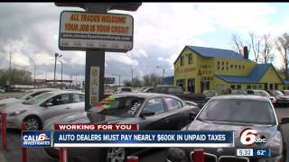 Auto dealers must pay $590K for unpaid sales tax