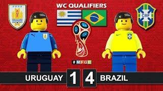 Uruguay vs Brazil 1-4 • World Cup Russia 2018 Qualifiers (24/03/2017) goal Lego Football CBF